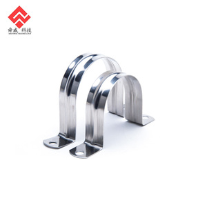 Good Quality Stainless Steel Two Hole Pipe Strap Clamp