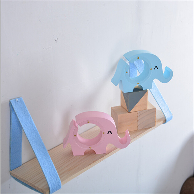 2018 new design colour mini elephant wooden wholesale piggy bank