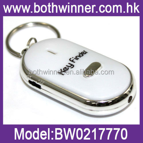 Whistle Sound Control Lost Key Finder Keychain Ring Locater LED Light