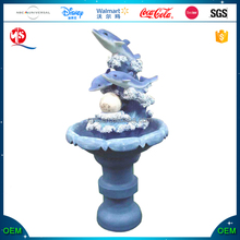 Resin Dolphin Water Fountain for Garden Decoration