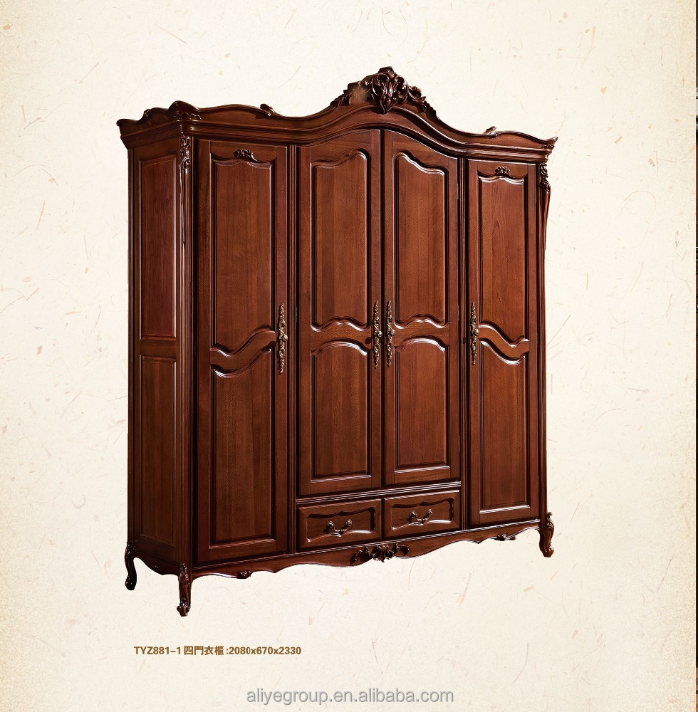 TYZW881-1- fancy wood carving bedroom furniture set luxury bedroom wooden wardrobe door designs fancy bedroom wardrobe
