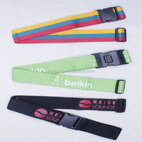 hot sale custom polyester luggage belt with lock