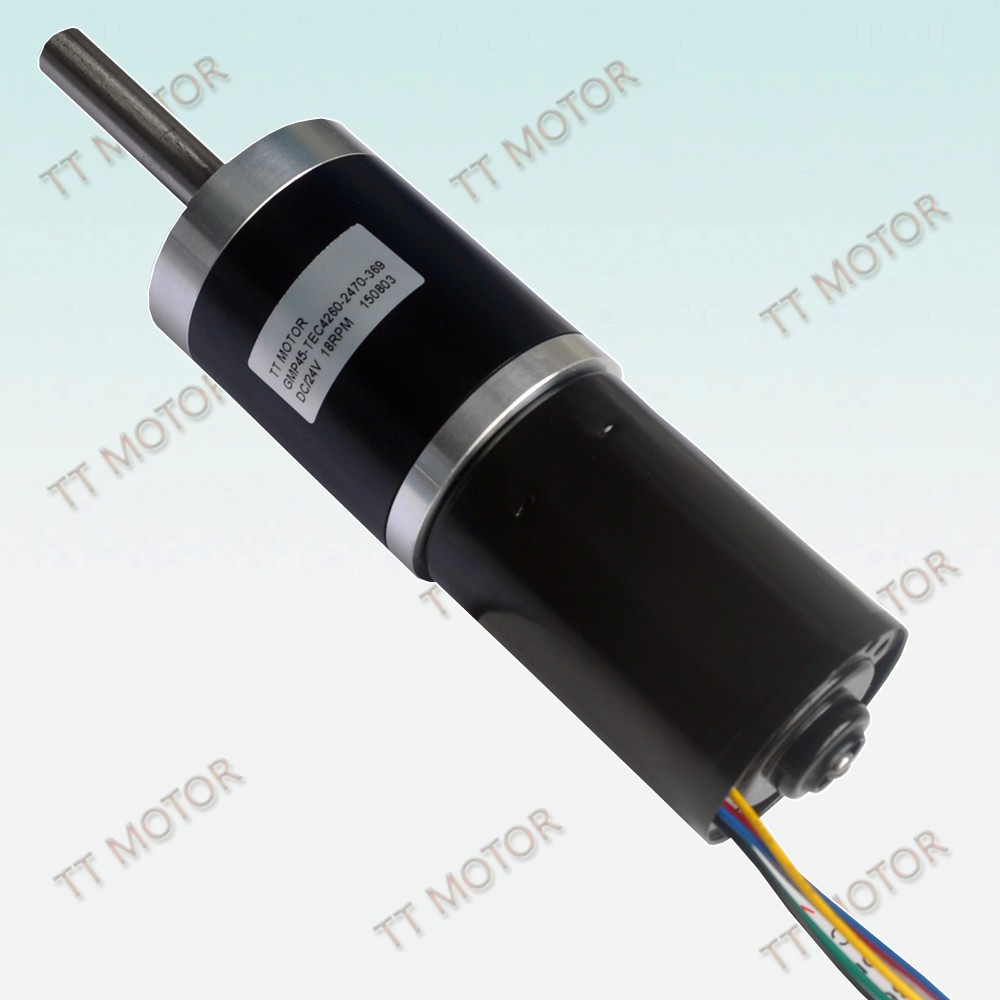 45mm or 12v dc brushless planetary gear motor