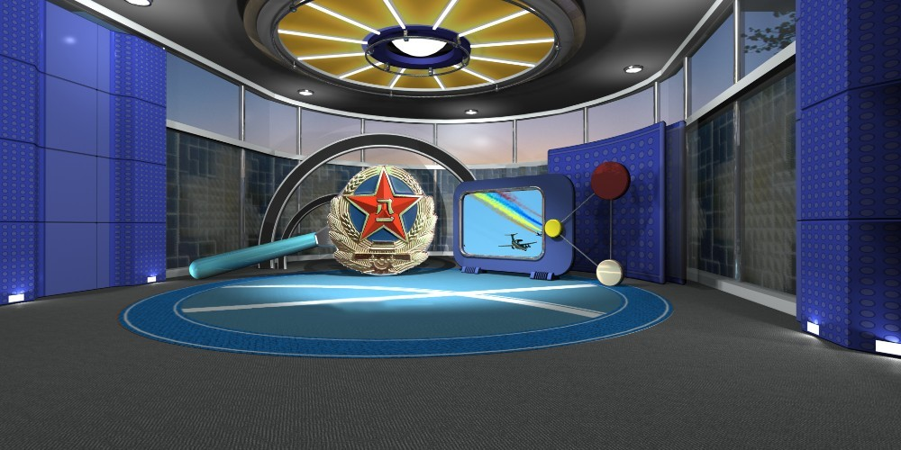 3D Virtual studio, broadcasting studio construction service, low cost for TV production