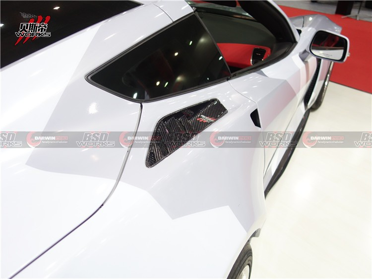 Carbon Fiber Vent For 14-15 Chevrolet Corvette C7 OE Style Rear Quarter Panel Vent