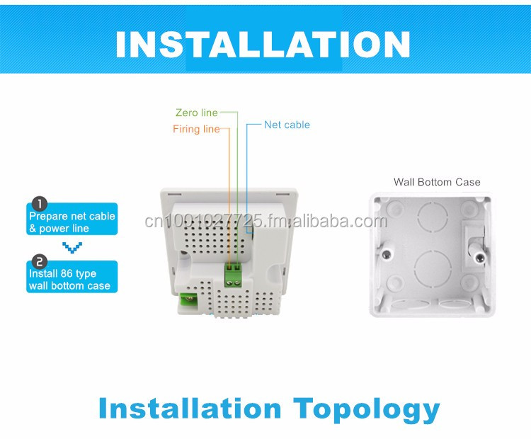 300Mbps MU938300 in Wall Access Point Wireless Socket AP for Hotel WiFi Projects, Support AC Management, Support RJ45 USB