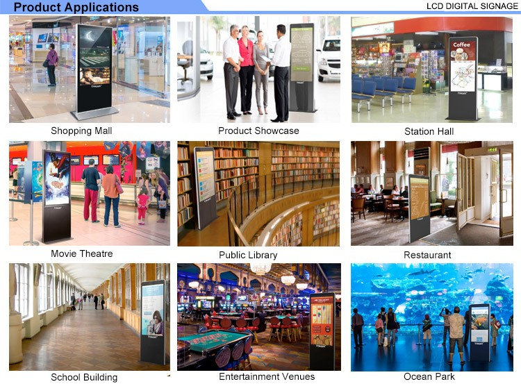 Rotating 46inches LCD Advertising Display For Mall