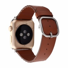 For Apple Watch Leather Band,Genuine Leather Loop With Magnetic Lock Strap Replacement Band For Apple Watch