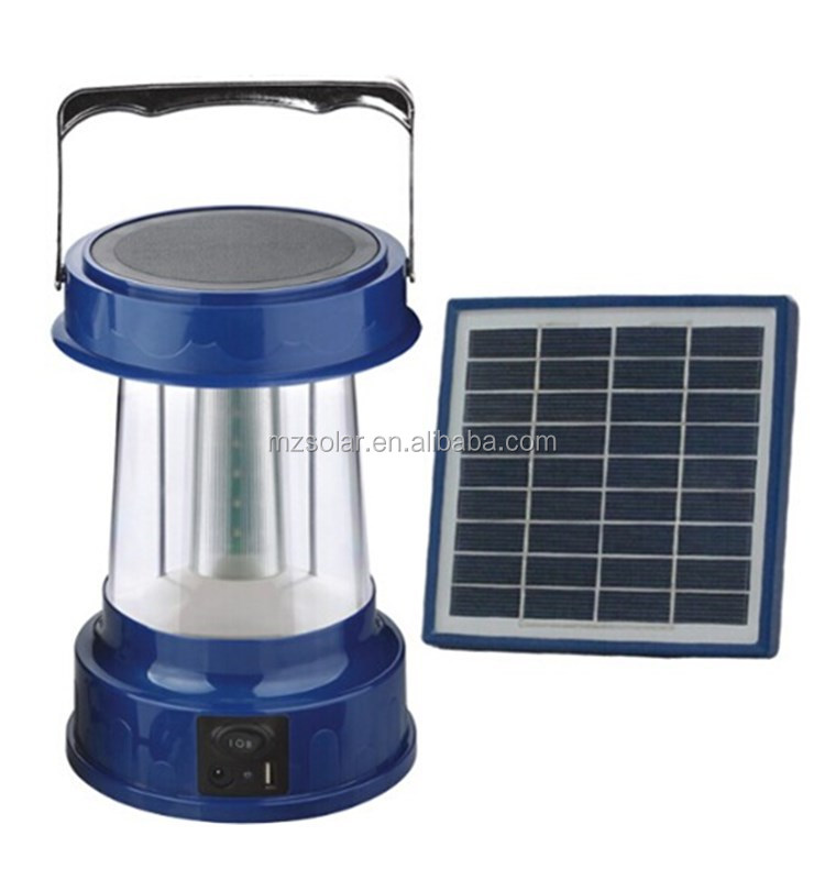 emergency light portable rechargeable LED camping hanging 36 led solar lantern with USB charger FM radio