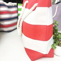 Beach Jute Tote Shopping Bag With Wooden Handle Natural
