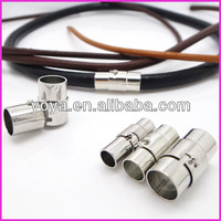 JF1267 Silver Magnetic Clasps with Snap Lock For Leather Cord Bracelet,Jewelry Clasps