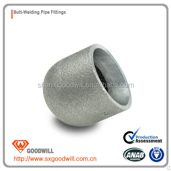 butt welding steel pipe end bw cap
