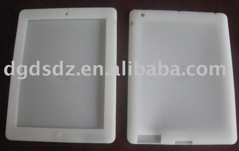 Glow in dark products silicone skin for iPad 2