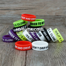 customized vape bands E Cigarette accessories silicone vape various patterns silicon decorative ring protection band