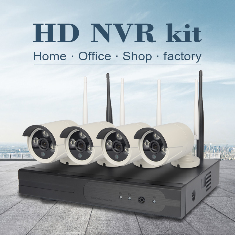 Home security monitoring Outdoor wireless 4 channel cctv camera system