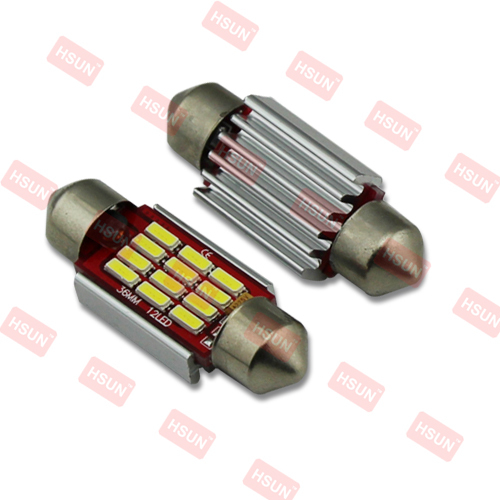 Automobiles & Motorcycle 12v led light bulb c5w 36MM/39MM/42MM led festoon 12 SMD 4014 reading auto lighting system