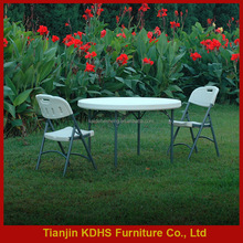 Outdoor furniture plastic folding table foldable garden table for sale