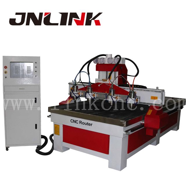 High efficiency 3 axis cnc milling machine , mass process multi spindle cnc router with wood carving tools