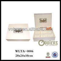Original Handmade Wooden Tea Box with Custom Logo