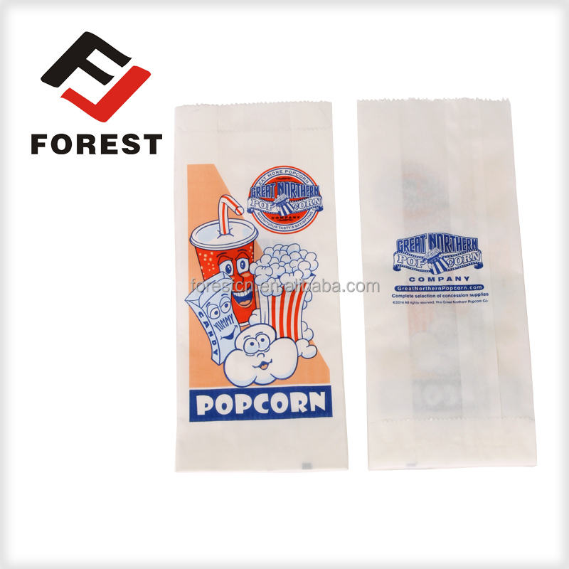 High quality export greaseproof pinch bottom popcorn paper bag