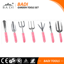 Hot Selling pink handle garden tools set with aluminum alloy handle