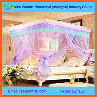 Rectangular princess mosquito net bed canopy