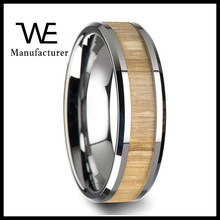 Jewelry Custom Stainless Steel Men's European Wedding Wood Band Rings
