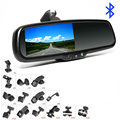 4.3 Inch Monitor FM Transmitter Bluetooth Car Rear View Mirror for A4