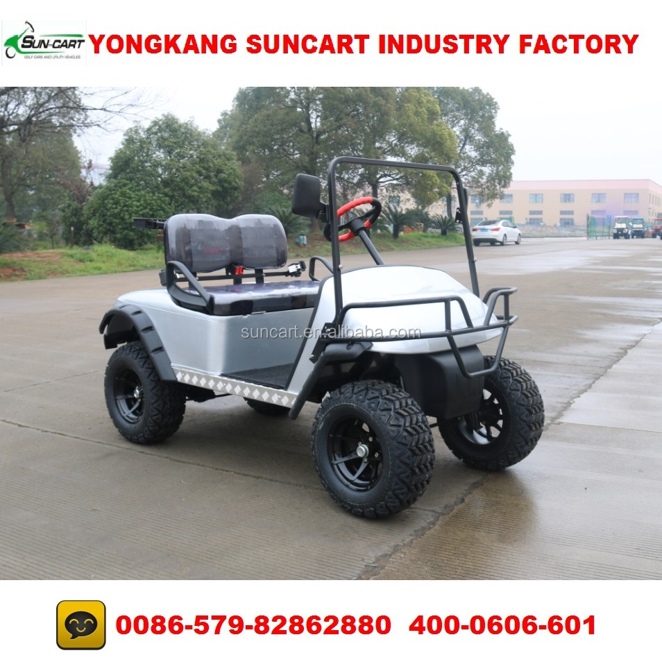 2 seater indoor electric golf cart with no roof,customized silivery cart body color golf car with black and gray seater color