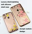The Latest Luxry Protector soft TPU Electroplating Golden Cases For apple iPhone6 6s plus silicone covers