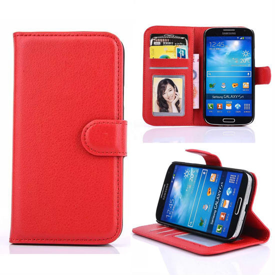 Wallet Card Design with Holder Magnetic Case for Samsung Galaxy S4 mini leather case