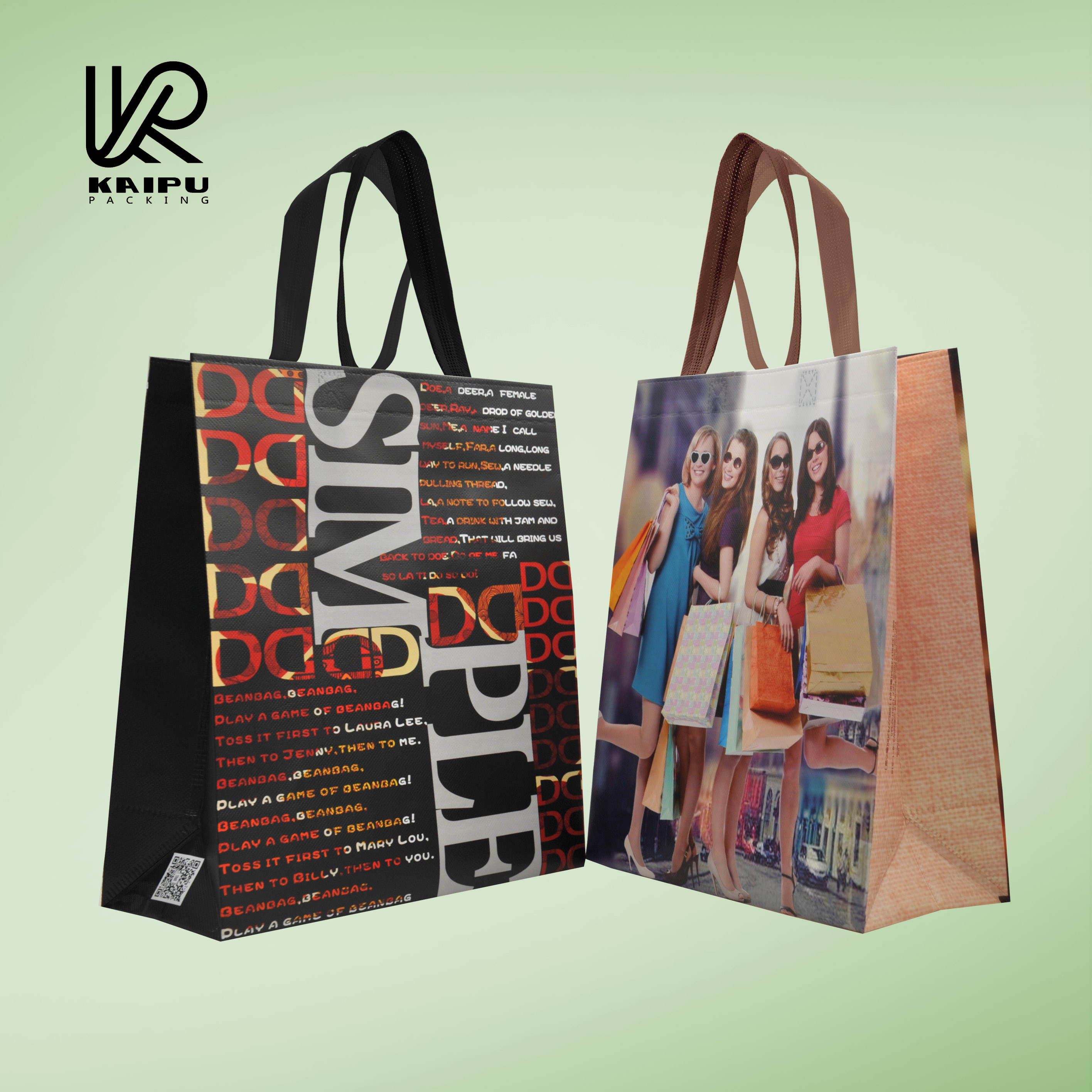 New product 2016 pp non-woven tote shopping bag full color printed manufactured in China