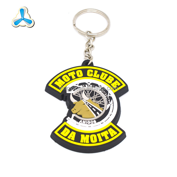 2d custom shaped rubber motorcycle keychains soft pvc keychain
