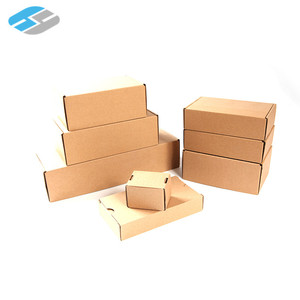 Packing Custom Cardboard Mailers Corrugated Die-Cut Self-adhesive Sticky Seal Box White Brown Yellow For Clothes Gift