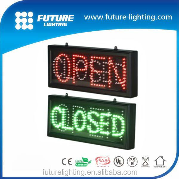 Shenzhen factory sale battery powered led open signs led open closed sign