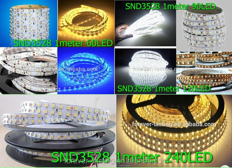 kinfire n-2 72w 2200lm 3500k 600-smd 3528 led warm white light strip - black + white (dc 12v / 5m)