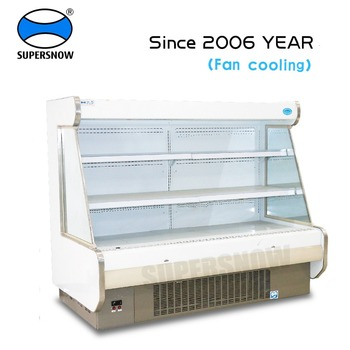 Commercial Upright Supermarket Open Refrigerator Fruit Display Vegetable Chiller