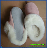 soft sheepskin fur lined slipper