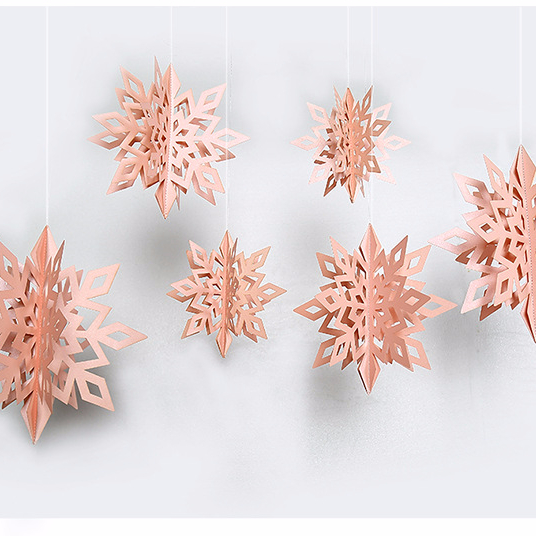 3D White Snowflake Hanging Garland Flags for Christmas,Home <strong>Decor</strong>,Holiday,New Years Party Supplies