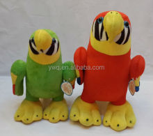Hot sale plush parrot toy /soft parrot /Sell well colourful parrot