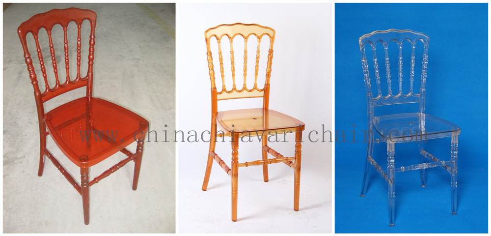Cheap Popular Colored Acrylic Resin Napoleon Chairs
