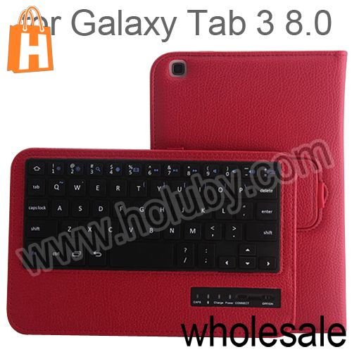Bluetooth Keyboard Leather Case for Samsung Galaxy Tab 3 8.0 T310 T311