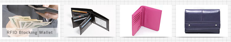 Fashion Personalized Leather Rfid Passport Wallet