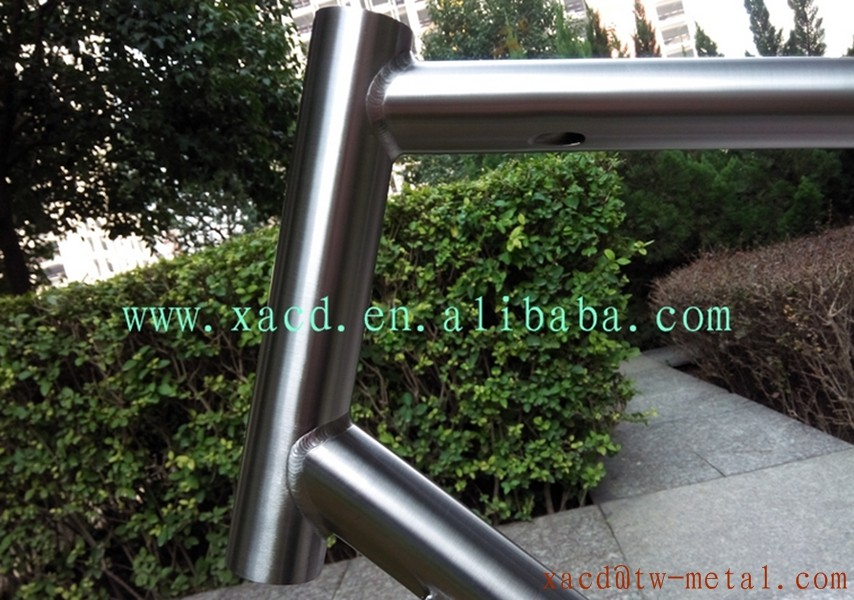 High Quality Titanium cyclocross bike frame custom Ti bike frame with V brakeXACD Ti cyclocross bike frame with kickstand mount