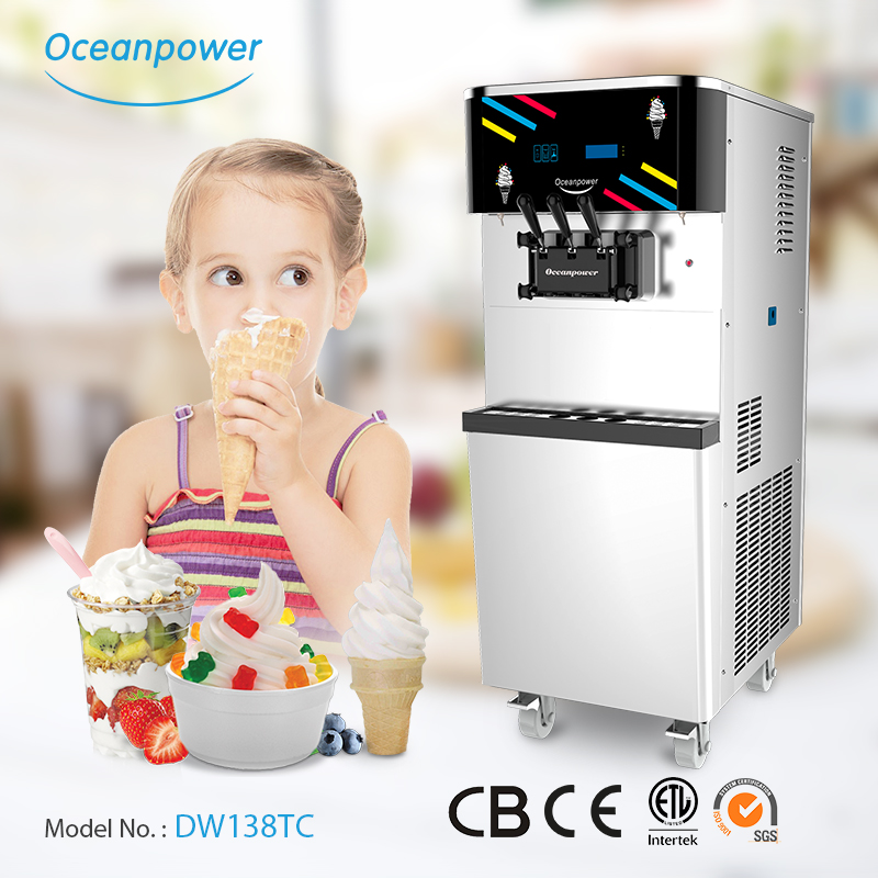 High Performance double cylinder machine soft ice cream in the store DW138TC