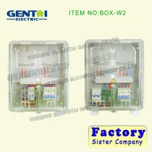 BOX-W2 GENTAI single phase 2 gang mechanistic waterproof electrical meter box