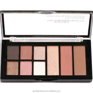 New Fashion Eyeshadow Palette Style Bronze 9 Colors Dry Pressed Powder Eyeshadow Palette