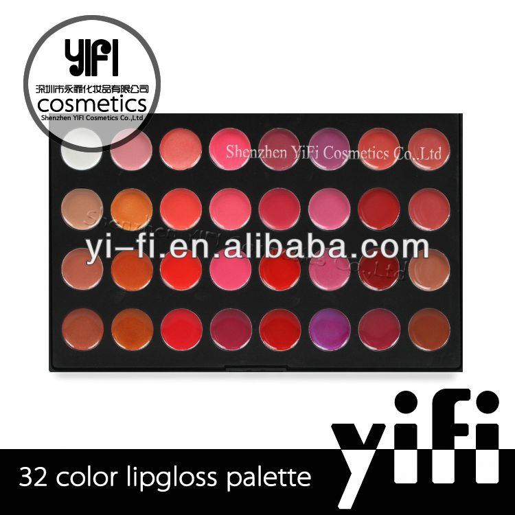 32 Color Makeup Lip Gloss Palette mica eyeshadow powder