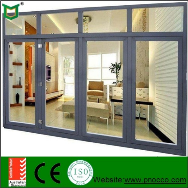 Luxury Decoration Folding Door Partition for Banquet Hall, folding window and door with AS2047 PNOC00110BFD