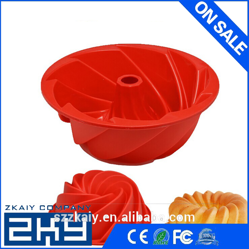 Round Flower Shape Chiffon Cake Molds Large Size Bread Pan Cake Mold Silicone Chocolate Pudding Mold DIY Bakeware